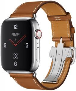 Apple Watch Hermes 44mm GPS + Cellular with Leather Single Tour Deployment Buckle (series 4)