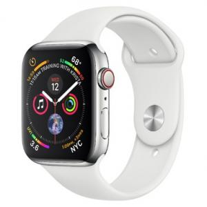 Apple Watch Stainless Steel 40mm GPS + Cellular with Sport Band (series 4)
