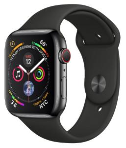 Apple Watch Stainless Steel 44mm GPS + Cellular with Sport Band (series 4)
